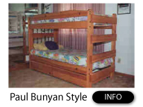 Paul Bunyan Style Bunk Beds