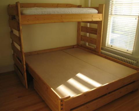Gentil Ruff Rider Convertible Bunk Bed Twin/King